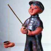 Peter der Angler, groß, mit Beschriftung