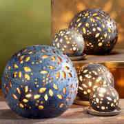 Lichtkugeln aus Keramik, Deko Stimmungslampen, granit