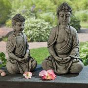 Buddha, Deko-Skulptur, 2er-Set