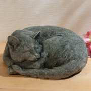 """Gartenfigur """"Katze"""" aus Steinguss, Tierfigur Gartenskulptur"""