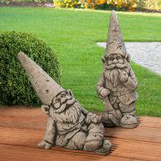 Gartenfiguren U201eGartenzwergeu201d, Steinguss Gartendekoration