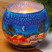 """Deko Leuchtglas mit Motivlandschaft """"Winter"""""""