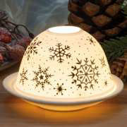 "Dome Light Brillant Porzellan-Windlicht ""Schneeflocke"""