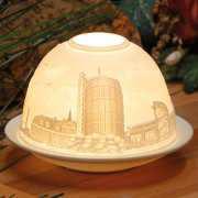 """Dome Light Porzellanlicht mit Städtemotiv """"Ruhrgebiet"""""""
