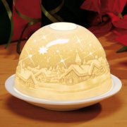 "Dome Light Porzellan-Windlicht ""Winterlandschaft"""