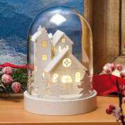 """Glasglocke """"Kirche"""", LED Weihnachtsdekoration"""