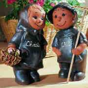 """Gartenfiguren """"Christa & Willi"""" mit Beschriftung"""