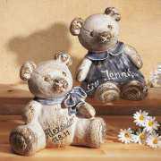 Teddy Spardose, Keramik mit individueller Beschriftung