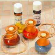 Duftkrüge mit Lederband zum Hängen, 3er-Set