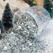 Kristall-Eis, winterliche Miniatur Landschaftsdeko