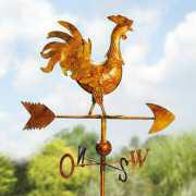 Windrose mit Wetterhahn, aus lackiertem Eisenblech