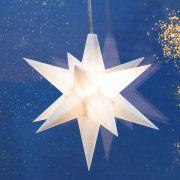 Advents-Sterne 3er-Set, weiß