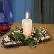 """Tischgesteck """"Weihnachten"""", Winterdeko Weihnachtskranz"""