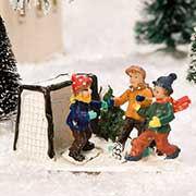 """Lichthäuser Miniaturfiguren Set """"Kinder spielen Fußball"""""""