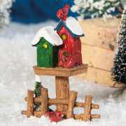 """Lichthäuser Miniatur Weihnachtsdeko """"Vogelhäuschen"""""""