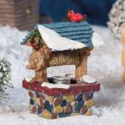 """Lichthäuser Miniatur Weihnachtsdeko """"Brunnen mit Vogel"""""""