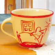 "Keramiktasse ""Morgenmuffel"", handbemalte Kaffeetasse"