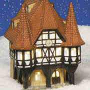 """Keramik Lichthaus Weihnachtsdeko """"Rathaus Michelstadt"""""""