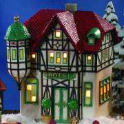 """Keramik Lichthaus Weihnachtsdeko """"Hotel Vier Sterne"""""""