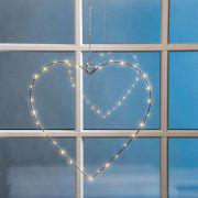 LED-Herz zum Hängen, 2er-Set