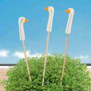 """Blumenstecker """"Gänse"""", Gartendekoration 3er Set"""