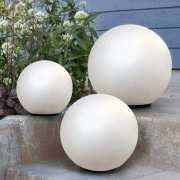 Kugelleuchten Gartendeko, weiße Solar LED Lichtkugeln