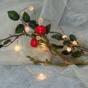 LED Lichterkette, Weihnachtsdeko, 10 Sternchen Lichter