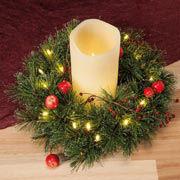 """Tischkranz """"Wintertanne"""", weihnachtliche Tischdeko"""