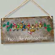 """Wandhänger """"Fröhliche Weihnachten"""", Vogelmotiv Dekoschild"""
