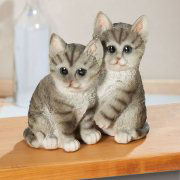 "Dekofigur ""Katzenpaar"", Tierfigur aus Kunststein"
