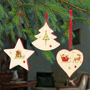 """Weihnachtsbaumschmuck aus Keramik, Motiv """"Weihnachten"""""""