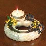 Blumenring aus Keramik, Kerzenhalter zur Tischdekoration