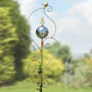 """Gartenstele """"Antik"""" mit Vogelspitze, Deko Gartenstecker"""