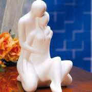 """Deko Keramik-Skulptur """"Paar"""" mit Beschriftung"""