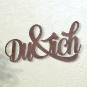 "Wandrelief ""Du & ich"", wetterfeste Wanddekoration"
