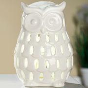 """LED-Windlicht """"Eule"""", Teelichthalter aus Keramik"""