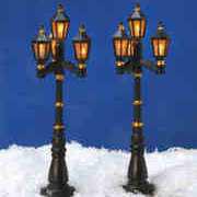 """Miniaturlaternen """"Wien"""", 2er-Set Straßenbeleuchtung"""