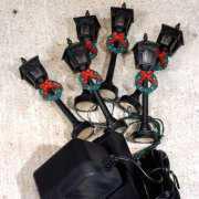 Miniaturlaternen, 6er-Set Straßenbeleuchtung, Netzteil