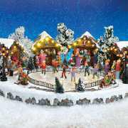 """Lichthäuser Weihnachtsdeko Animation """"Eisbahn"""""""