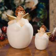 """Weihnachtsfiguren """"Schutzengel"""", Deko-Figuren aus Keramik"""