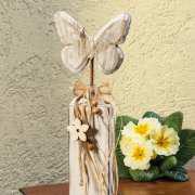 """Dekosäule """"Schmetterling"""", Eingangsdekoration aus Holz"""