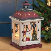"""Holzlaterne """"Schneemann"""", winterliche Weihnachtsdekoration"""