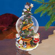 """Spieluhr """"Frohe Weihnachen"""", Schneekugel mit Musik"""