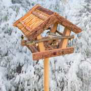 """Vogel-Futterhaus """"Klassik"""" aus Naturholz mit Dach"""