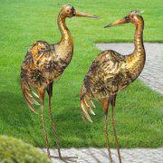 """Gartenskulptur """"Kranich"""", Tierfiguren zur Gartendekoration"""