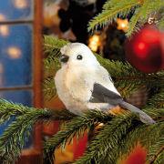 """Weihnachtsbaumschmuck """"Plüschvogel"""", Dekofigur mit Clip"""