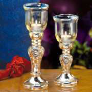 "Glas-Windlicht ""Diamant"", 2er-Set"