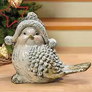 """Weihnachtsfigur """"Schneevogel"""", Weihnachtsdeko Vogelfigur"""