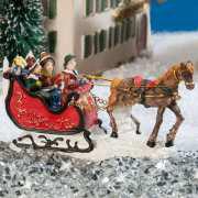"""Lichthäuser Miniaturfiguren Set """"Pferdeschlitten"""""""