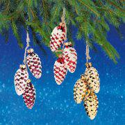 """Weihnachtsbaumschmuck """"Glaszapfen"""", 3er-Set Baumhänger"""
